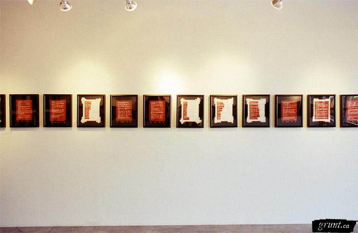Nadia Myre Indian Act Exhibition Images Indianacts